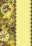 Cartão com citrino Foto de Stock Royalty Free