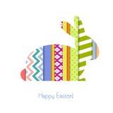 Cartão com coelhinho da Páscoa Imagens de Stock