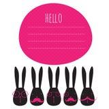 Cartão com coelhos Fotografia de Stock Royalty Free