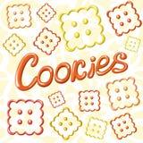 Cartão com cookies e título Imagens de Stock Royalty Free