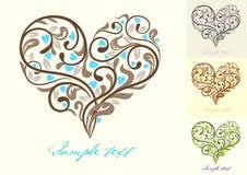 Cartão com coração Fotografia de Stock
