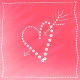 Cartão com coração Foto de Stock Royalty Free