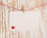 Cartão com coração Fotos de Stock