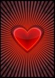 Cartão com coração Fotografia de Stock Royalty Free