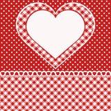 Cartão com coração Fotos de Stock Royalty Free