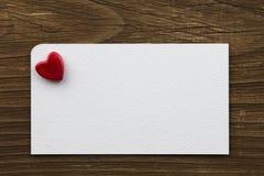 Cartão com coração Imagens de Stock Royalty Free