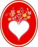 Cartão com coração Imagem de Stock