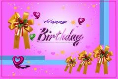 Cartão com coração do balão pequeno Fotografia de Stock Royalty Free