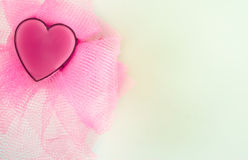 Cartão com coração e grade imagem de stock