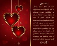 Cartão com coração para o dia do Valentim - vetor Fotografia de Stock Royalty Free