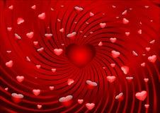Cartão com corações Foto de Stock