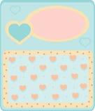 Cartão com corações Imagens de Stock Royalty Free