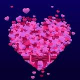Cartão com corações Foto de Stock Royalty Free