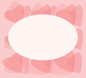 Cartão com corações Fotografia de Stock