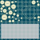 Cartão com corações e botões ilustração do vetor