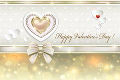 Cartão com corações para o dia de Valentim Imagem de Stock Royalty Free