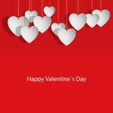 Cartão com corações para o dia do Valentim Fotos de Stock Royalty Free