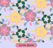 Cartão com decoração floral e lugar para o texto Imagens de Stock