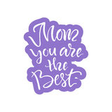 Cartão com dia do ` s da mãe Imagens de Stock