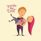Cartão com dia feliz do ` s do Valentim Fotografia de Stock