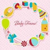 Cartão com elemento do bebê Imagem de Stock Royalty Free
