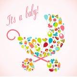 Cartão com elemento do bebê Fotos de Stock Royalty Free