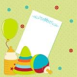 Cartão com elemento do bebê Imagens de Stock