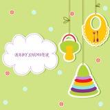 Cartão com elemento do bebê Imagens de Stock Royalty Free