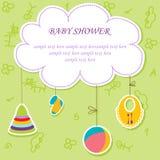 Cartão com elemento do bebê Foto de Stock