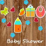 Cartão com elementos de um bebê Imagem de Stock Royalty Free