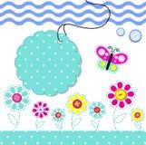 cartão com elementos do bebê do scrapbook Imagem de Stock Royalty Free