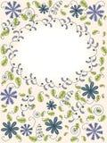 Cartão com elementos florais abstratos Fotografia de Stock