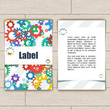 Cartão com engrenagens Fotografia de Stock