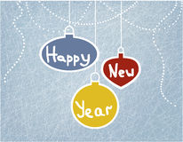 Cartão com esferas do Natal foto de stock royalty free
