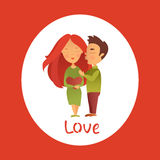 Cartão com feriado do dia do ` s do Valentim Fotos de Stock