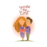 Cartão com feriado do dia do ` s do Valentim Fotos de Stock Royalty Free