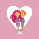 Cartão com feriado do dia do ` s do Valentim Fotografia de Stock