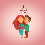 Cartão com feriado do dia do ` s do Valentim Imagem de Stock