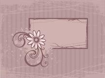 Cartão com flor ilustração royalty free