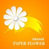 Cartão com flor de papel ilustração stock