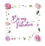 Cartão com flores Fotografia de Stock