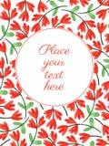 Cartão com flores da aquarela Fotografia de Stock
