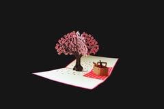Cartão com flores de cerejeira Imagens de Stock Royalty Free