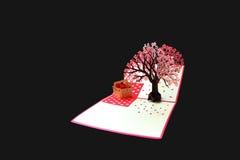 Cartão com flores de cerejeira Imagem de Stock