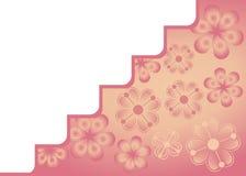 Cartão com flores decorativas Imagens de Stock Royalty Free