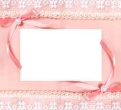 Cartão com a folha de papel em branco e duas curvas Fotografia de Stock Royalty Free