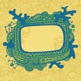 Cartão com frame ornamentado ilustração royalty free