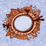Cartão com frame ornamentado ilustração do vetor