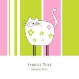 Cartão com gato Imagens de Stock