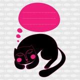 Cartão com gato Fotos de Stock